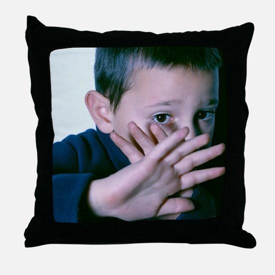 Child abuse Throw Pillow