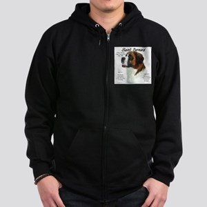 Saint Bernard (Rough) Zip Hoodie (dark)