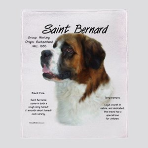 Saint Bernard (Rough) Throw Blanket