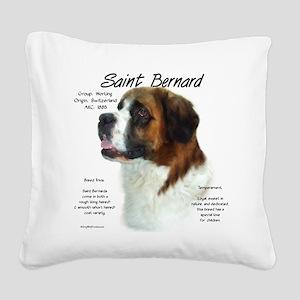 Saint Bernard (Rough) Square Canvas Pillow