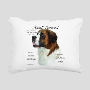 Saint Bernard (Rough) Rectangular Canvas Pillow