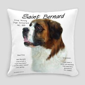 Saint Bernard (Rough) Everyday Pillow