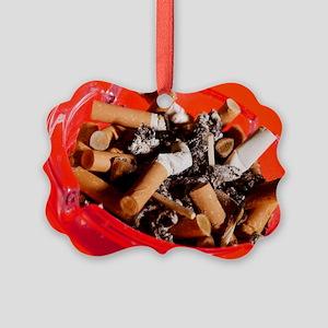 Cigarette butts Picture Ornament