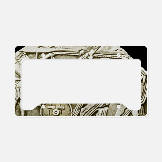 One of the first depictions o License Plate Holder