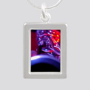 Clarinet Silver Portrait Necklace