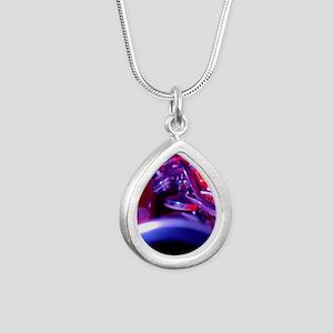 Clarinet Silver Teardrop Necklace