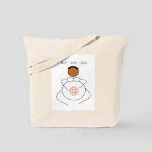 Brown Mama live/love/light Tote Bag