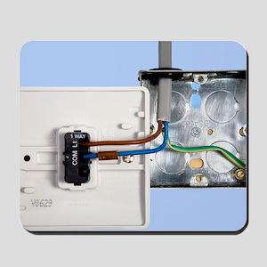 One-way light switch Mousepad