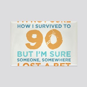 90th Birthday Survival Magnets