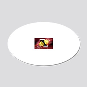 Online gambling 20x12 Oval Wall Decal