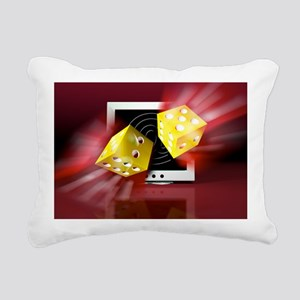 Online gambling Rectangular Canvas Pillow