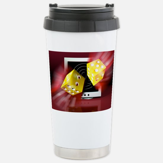 Online gambling Stainless Steel Travel Mug