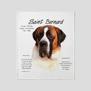 Saint Bernard (Smooth) Throw Blanket
