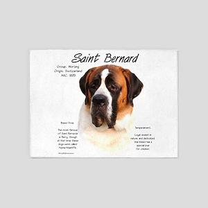Saint Bernard (Smooth) 5'x7'Area Rug