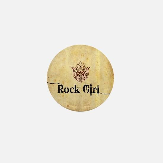 ROCK GIRL * Mini Button