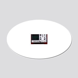 Oscilloscope wave form 20x12 Oval Wall Decal