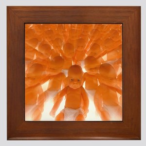 Cloned babies Framed Tile