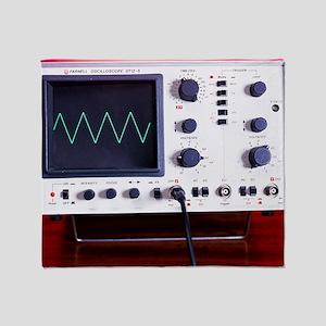Oscilloscope wave form Throw Blanket