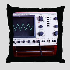 Oscilloscope wave form Throw Pillow
