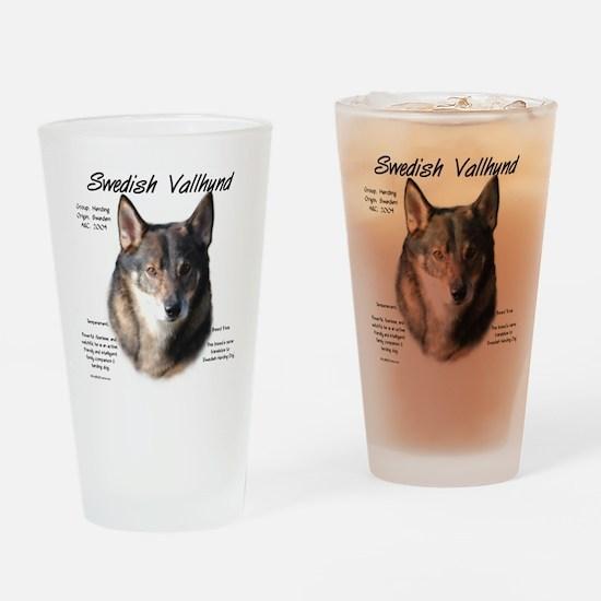 Swedish Valhund Drinking Glass