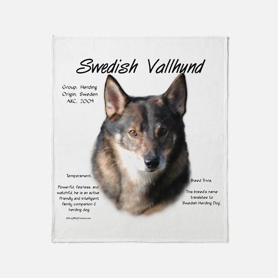 Swedish Valhund Throw Blanket