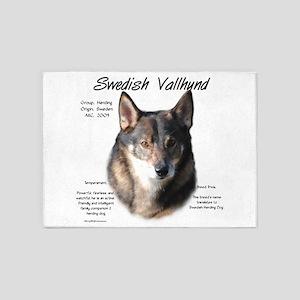 Swedish Valhund 5'x7'Area Rug