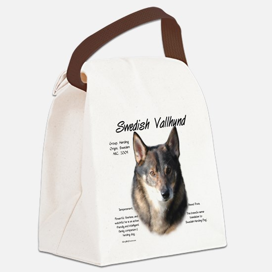 Swedish Valhund Canvas Lunch Bag