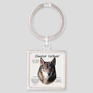 Swedish Valhund Square Keychain