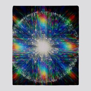 Optical fibres, special effects phot Throw Blanket