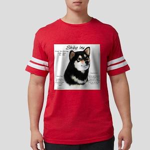 Shiba Inu (blk/tan) Mens Football Shirt