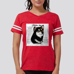 Shiba Inu (blk/tan) Womens Football Shirt