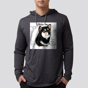 Shiba Inu (blk/tan) Mens Hooded Shirt