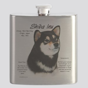 Shiba Inu (blk/tan) Flask