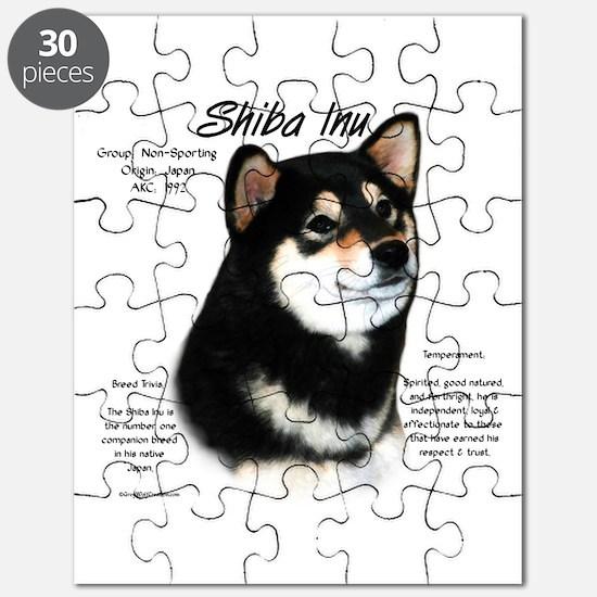 Shiba Inu (blk/tan) Puzzle