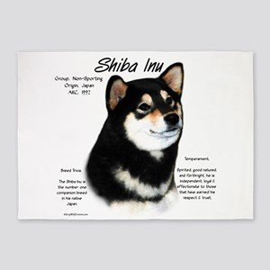 Shiba Inu (blk/tan) 5'x7'Area Rug
