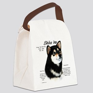 Shiba Inu (blk/tan) Canvas Lunch Bag