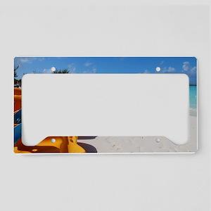 Half Moon Cay License Plate Holder