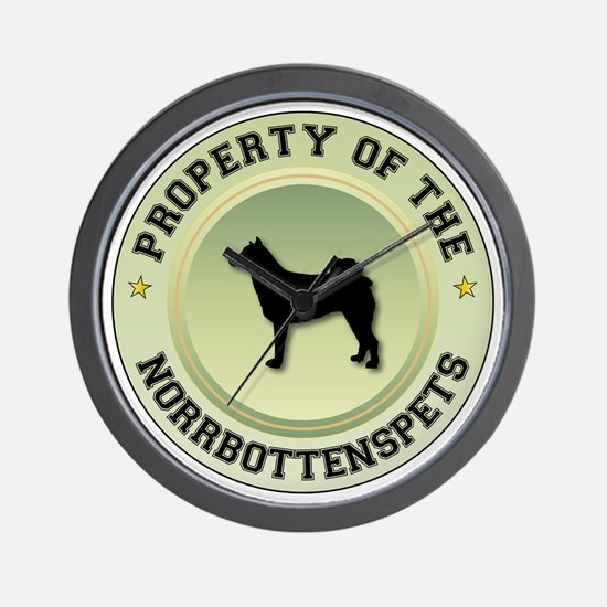 Norrbottenspets Property Wall Clock