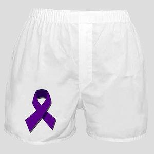 Purple Ribbon Boxer Shorts