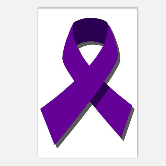 Purple Ribbon Postcards (Package of 8)