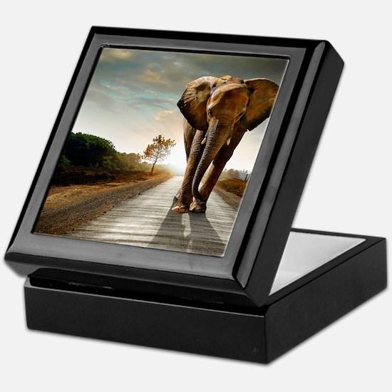 Big Elephant Keepsake Box