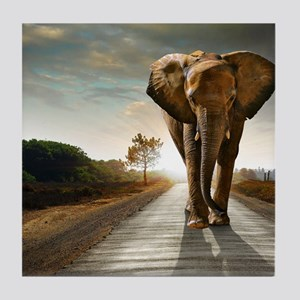 Big Elephant Tile Coaster