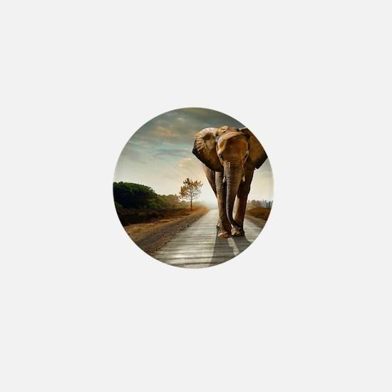 Big Elephant Mini Button