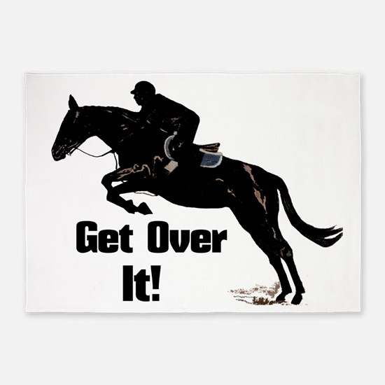 Get Over It! Horse Jumper 5'x7'Area Rug
