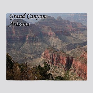 Grand Canyon, Arizona 2 (with captio Throw Blanket