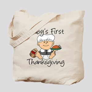 Baby Girl First Thanksgiving Tote Bag