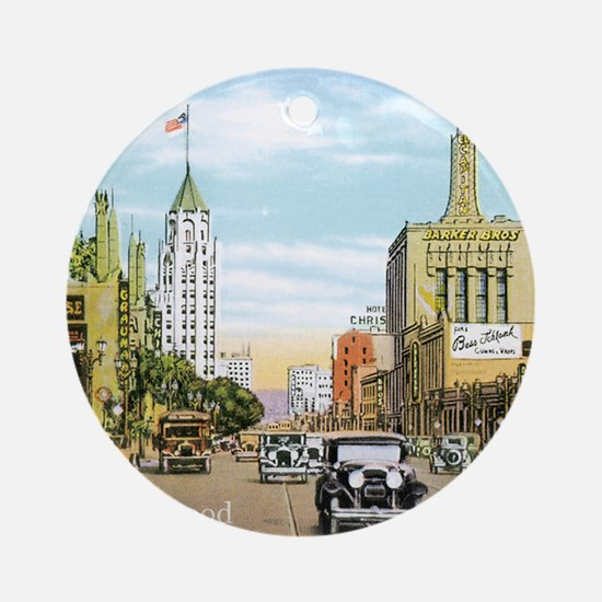 Vintage Hollywood Round Ornament