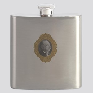 Grover Cleveland White Flask