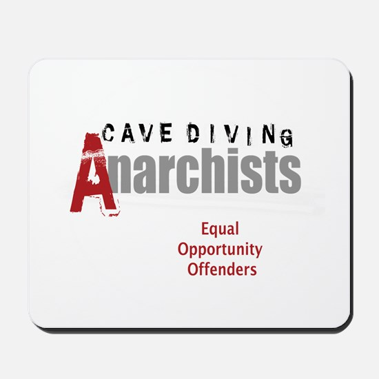 Cave Diving Anarchists (round) Mousepad