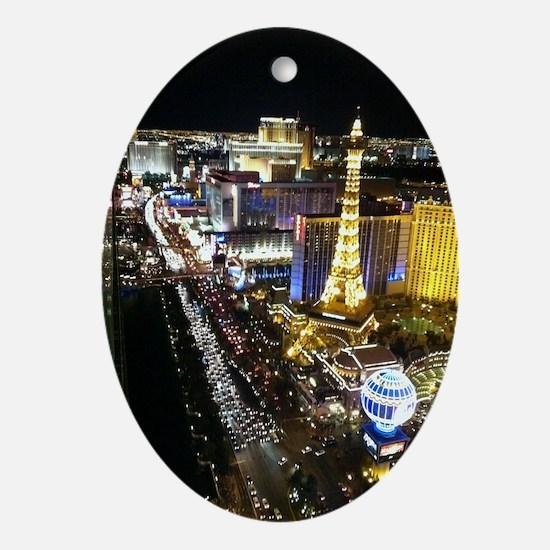 Vegas Strip Oval Ornament